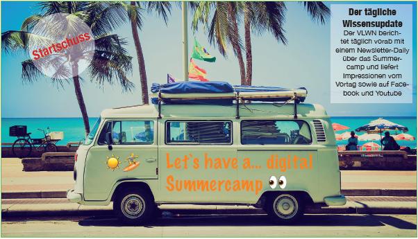 Premiere: VLWN-Summercamp startet am 10.08.2020 Open-Online-Sessions per Webex begleiten